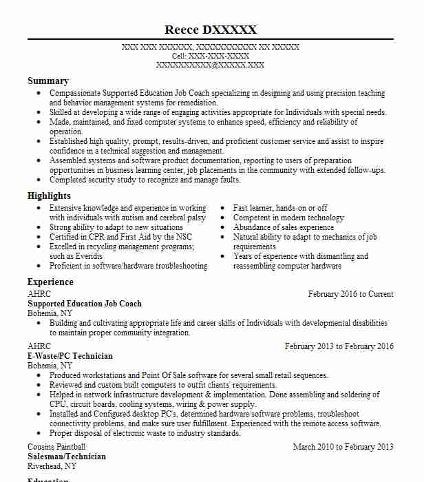 2683 special education resume examples in new york livecareer
