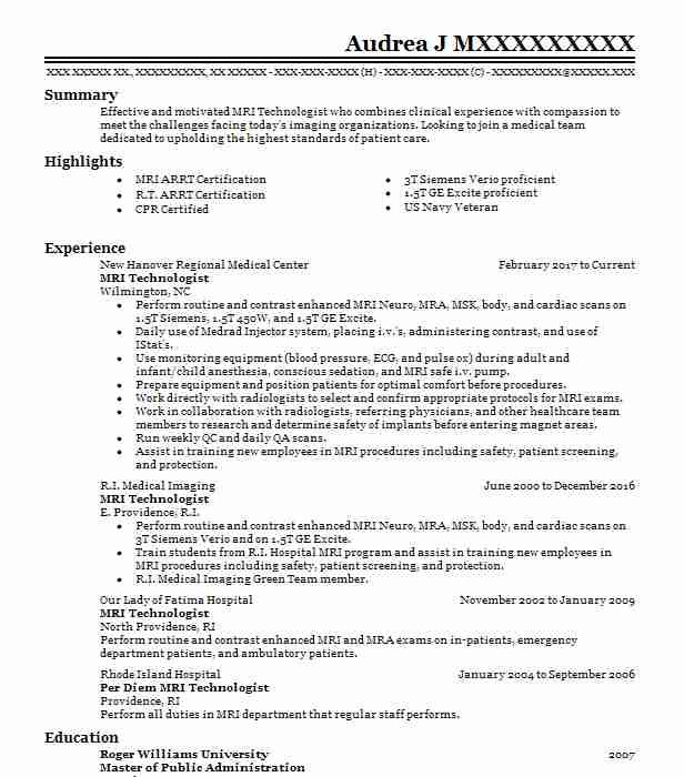 diagnostic radiology supervisor resume example cmc