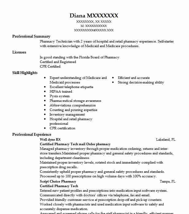 mail order pharmacist resume example medco solutions