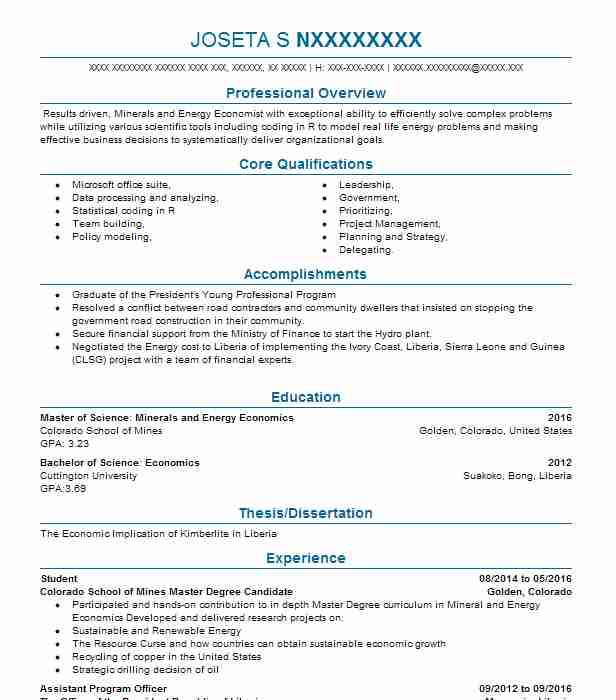 Amazing Energy Economist Resume Inspiration - Resume Ideas - bayaar.info