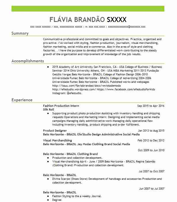Assistant Professor Fashion Design Merchandising Resume Example University Of Louisiana Lafayette Apollo Beach Florida