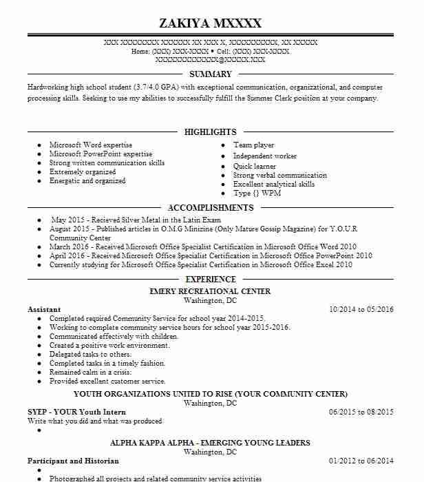 182 data entry and word processing resume examples in district of