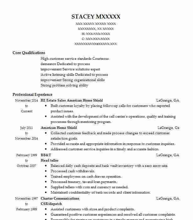 Bank Teller Cover Letter Samples For Resume: Head Teller Resume Sample