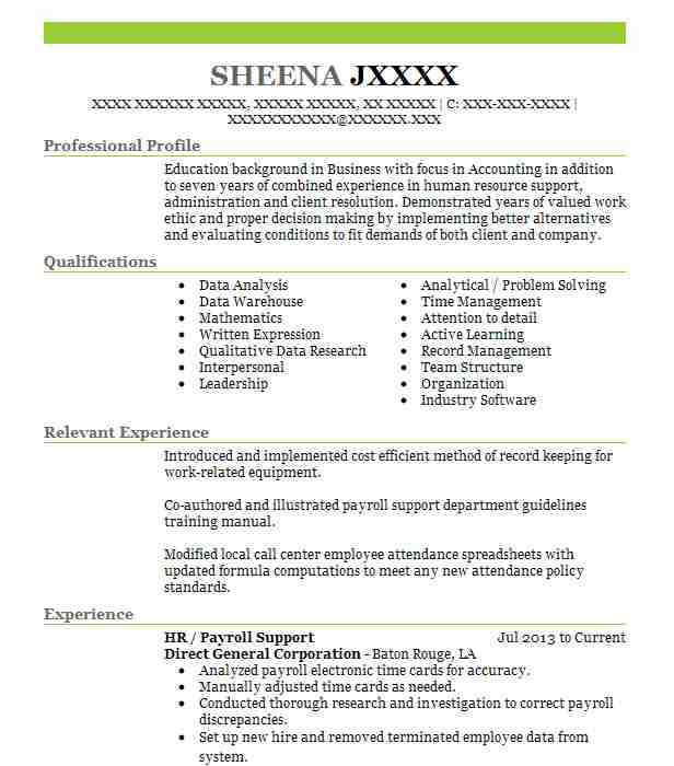 198 payroll administrators accounting and finance resume examples