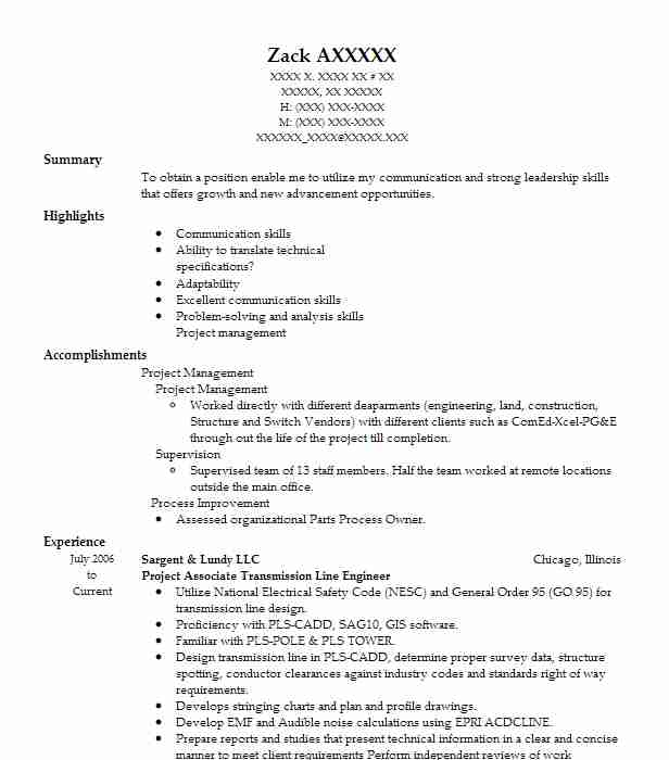 206 Energy And Utilities Resume Examples in Illinois | LiveCareer