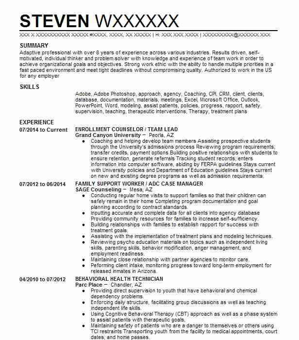 219 Continuing Education Resume Examples in Arizona | LiveCareer