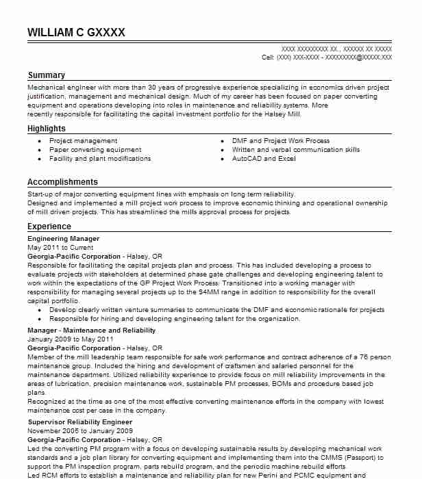 Engineering Manager Resume Example Engineering Resumes Livecareer