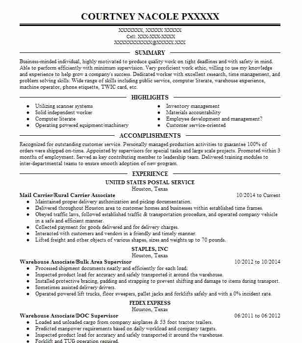 stocker resume example  jewel osco