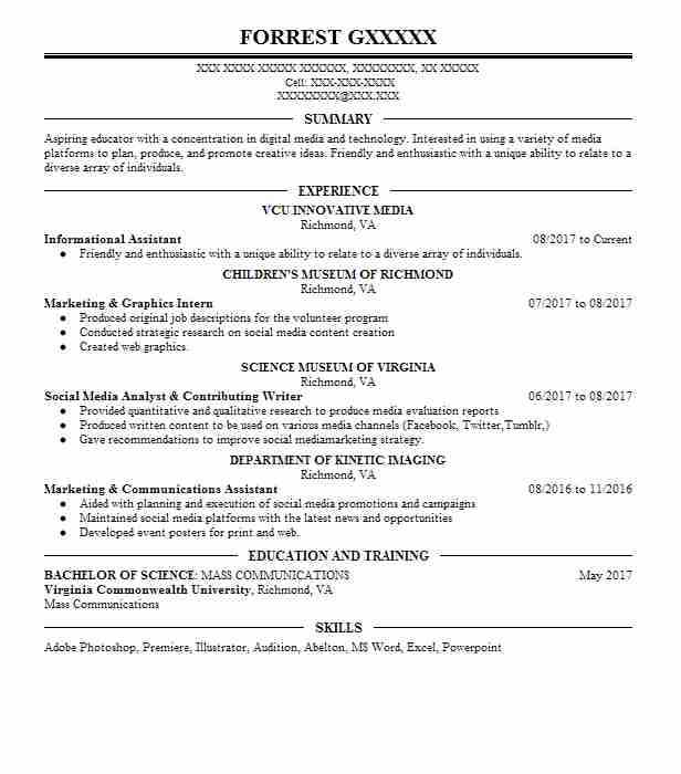 Digital Media Manager Resume Example Jump Start Digital Llc