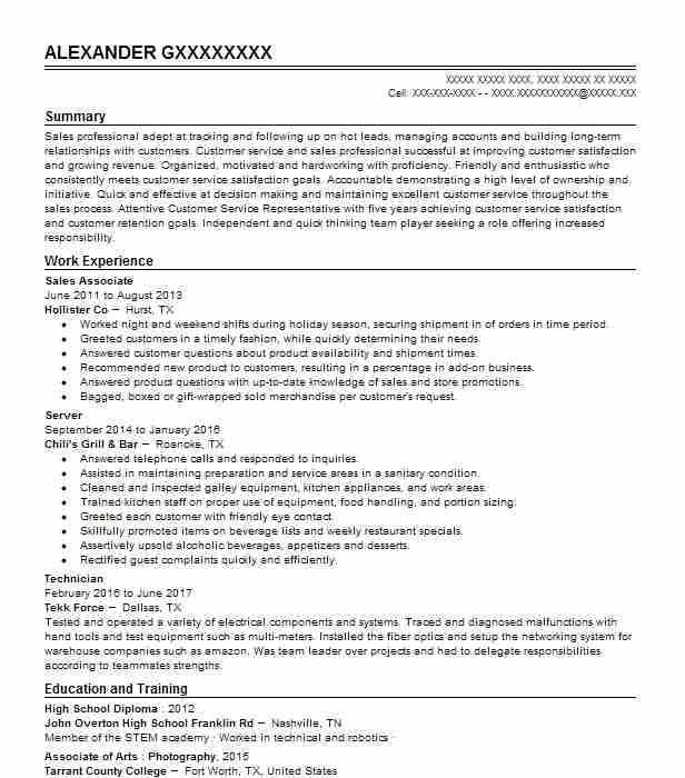 freelance photographer resume example  self employed