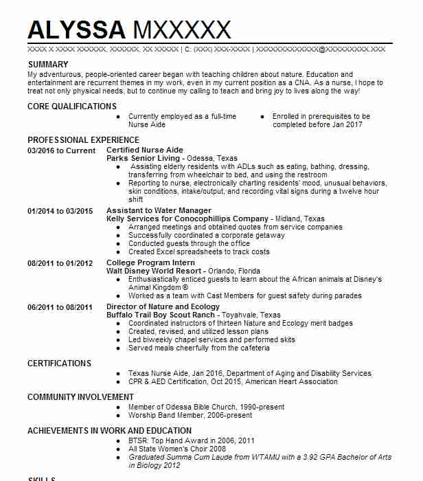 4599 Vocational Training Resume Examples Education And Training