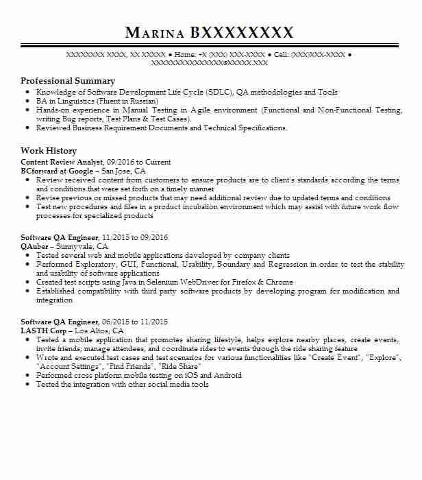 content review specialist resume example bcforward at
