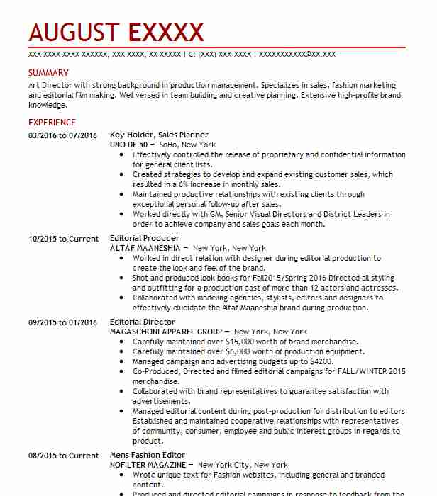 key holder  floor supervisor  fit expert resume example