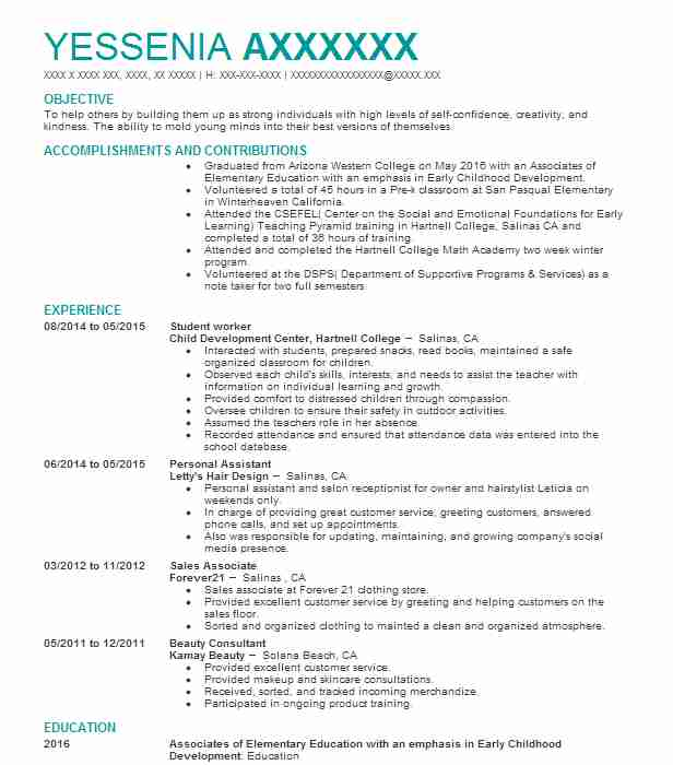 Student Worker Resume Sample Worker Resumes Livecareer
