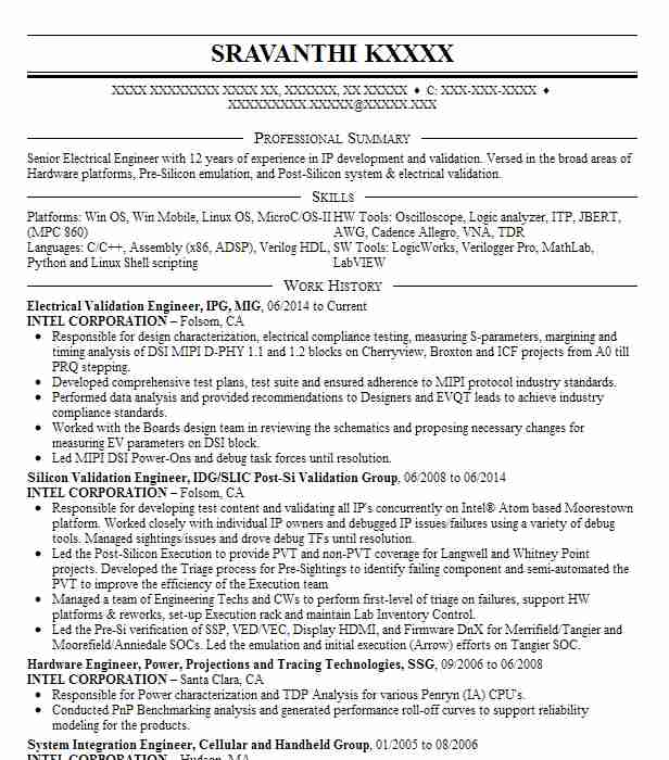 electrical engineer  eit resume example page