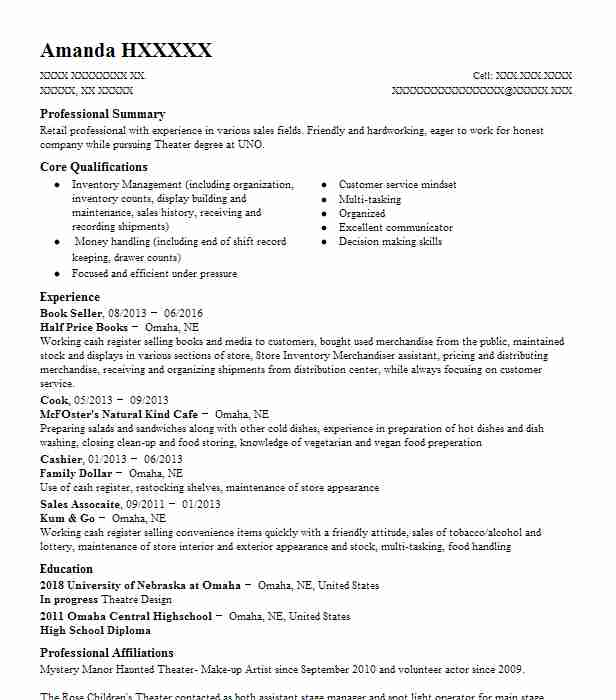 Fantasy Book Critic Book Reviewer Resume Example