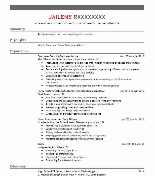 customer service representative - Entry Level Paralegal Resume