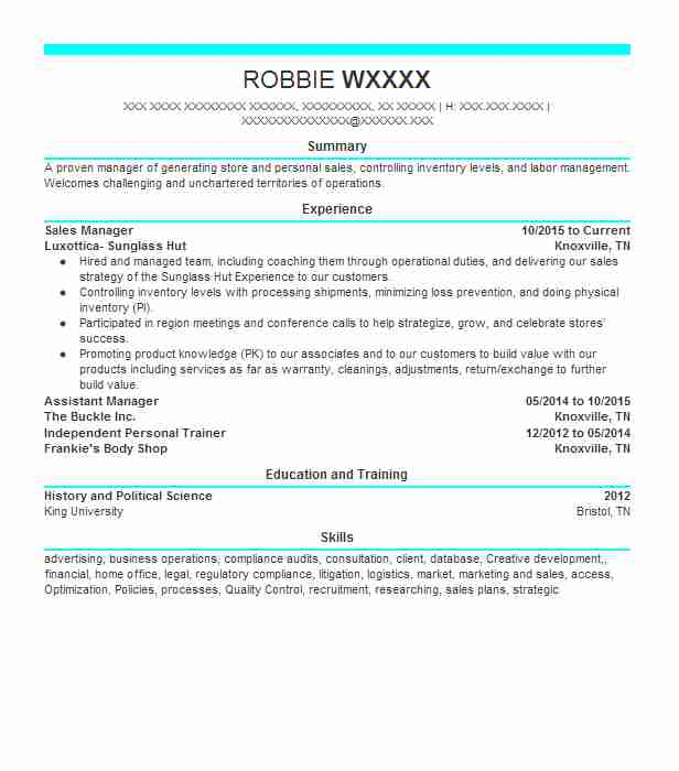 sales manager - Banking Sales Resume