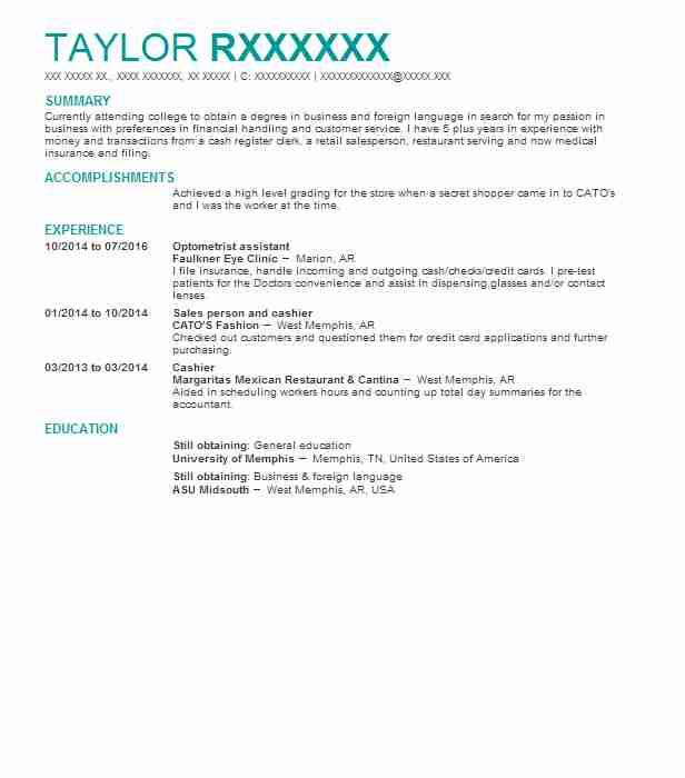 Optometrist Assistant Resume Sample Assistant Resumes