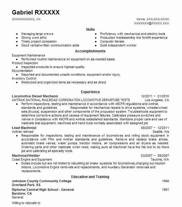 9268 Railroad Resume Examples Transportation And