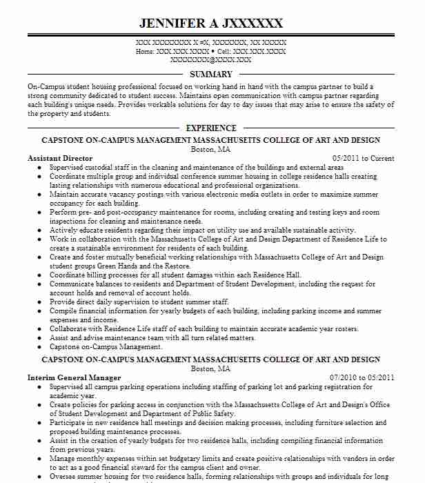 Assistant Director Objectives Resume Objective Livecareer