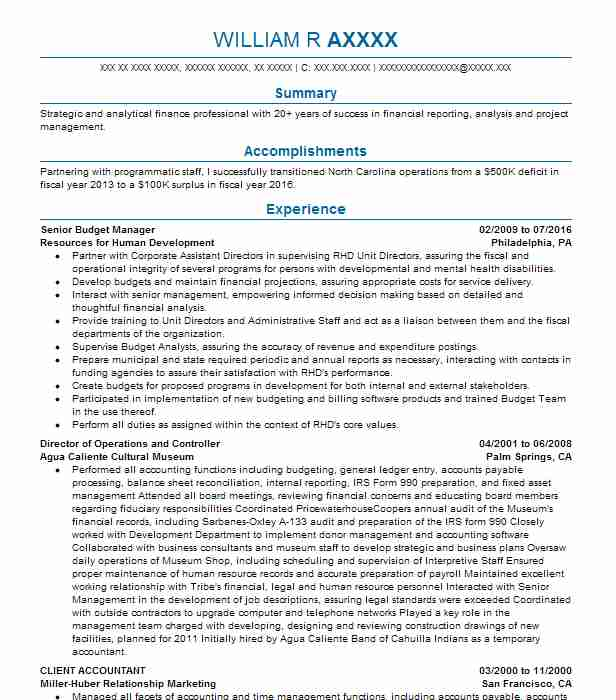 Project Accountant Resume Sample | Accountant Resumes | LiveCareer