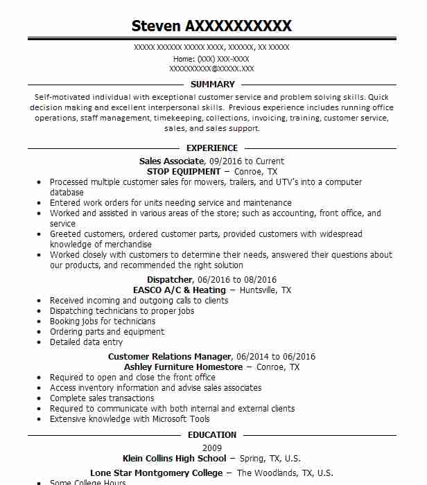 best public relations resume example