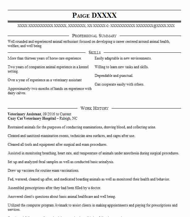 top animal science resume - Animal Science Resume Examples