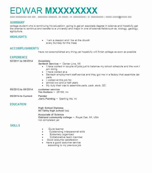 journeyman painter resume example painting specialists portland