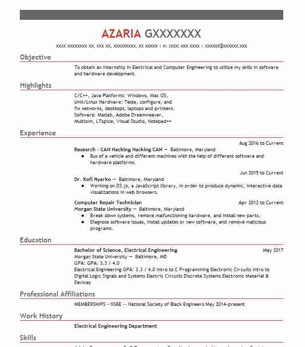 best computer repair technician resume example livecareer