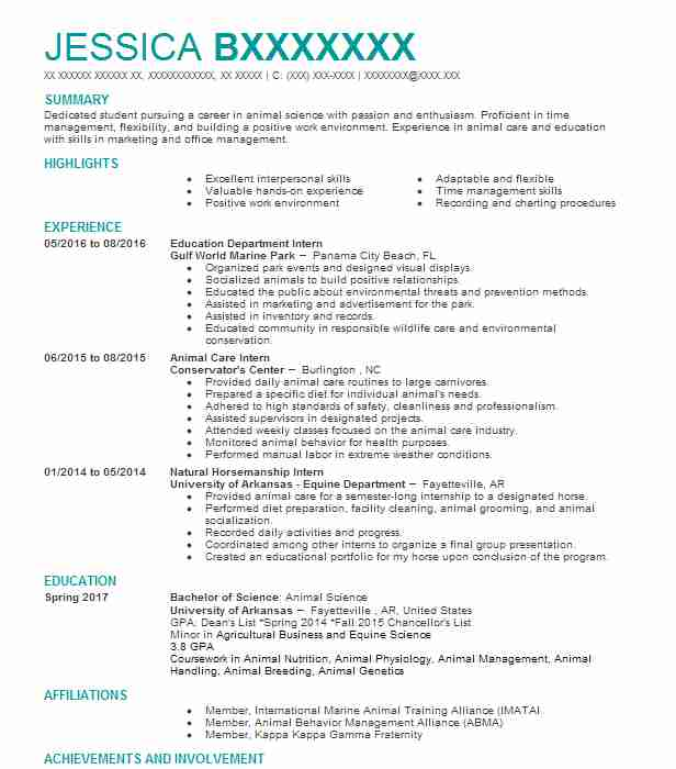 84 Conservation And Environmental Scientists (Science) Resume ...