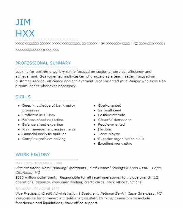 vice president  investment banking resume example d  a