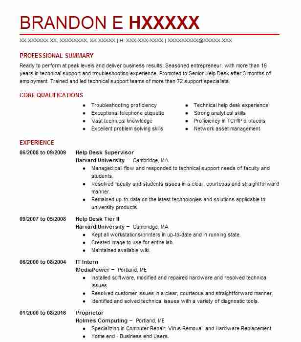 find resume examples in portland  me