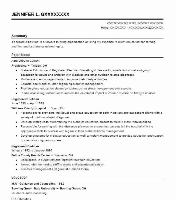 3 resumes matching diet and nutrition resume samples in sylvania ohio registered dietitian - Registered Dietitian Resume Template