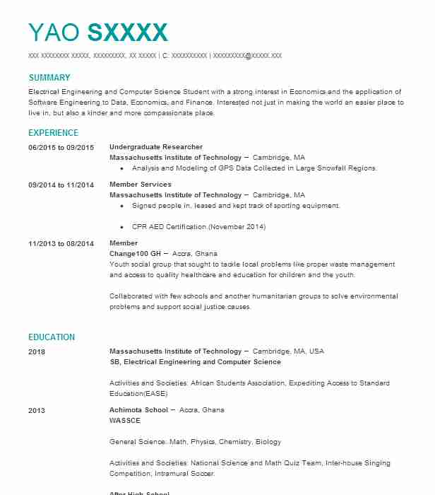 find resume examples in cambridge  ma