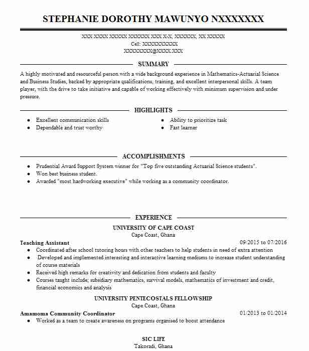 actuaries resume examples insurance resumes livecareer