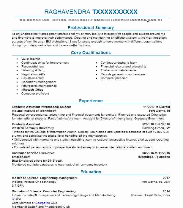 Resume help in fort wayne indiana