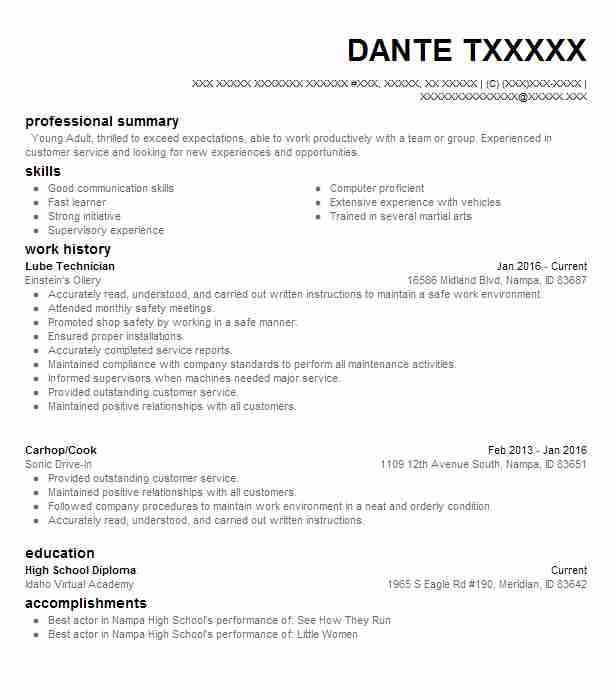 Lube Technician Resume Sample | Technician Resumes | LiveCareer