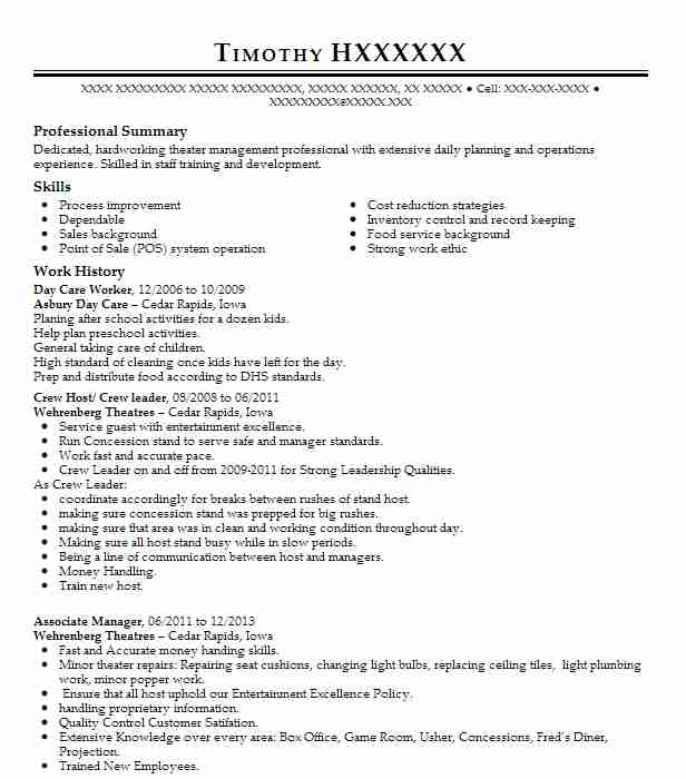 day care worker resume sample