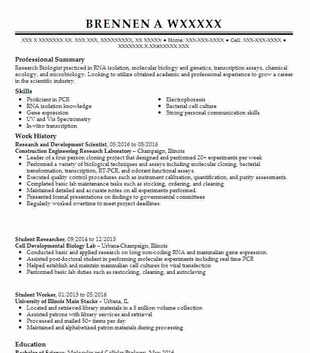 analytical development research scientist resume example