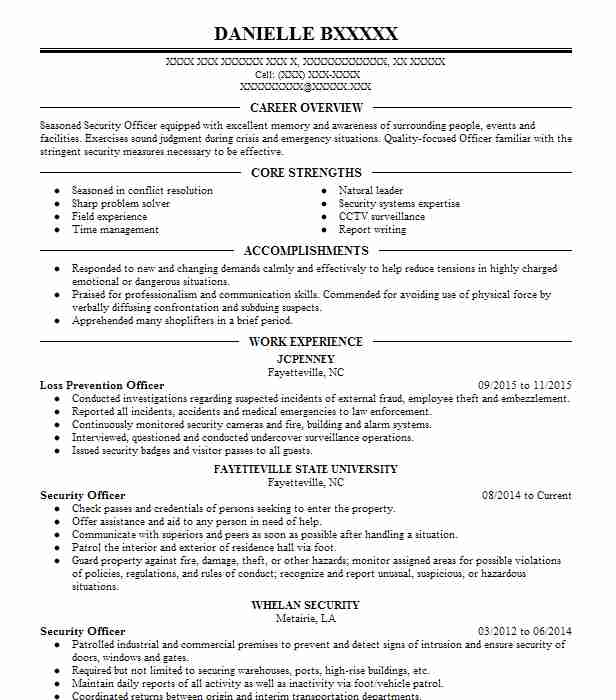 find resume examples in fayetteville  nc