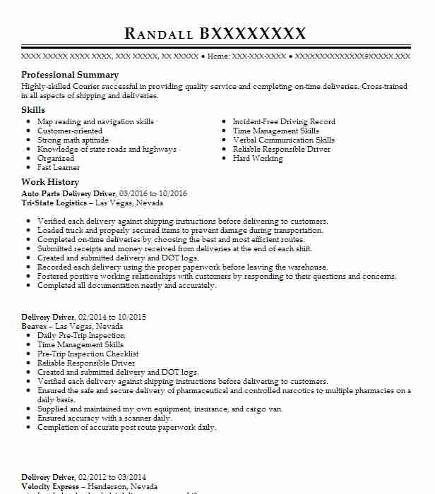 Napa Auto Parts Resume Example Office Inventory Control