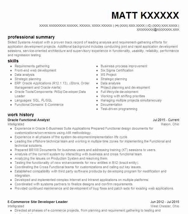 oracle financial functional analyst resume example webroot