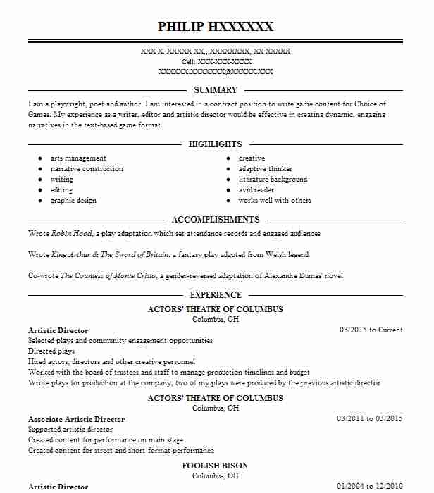 5590 Gaming Resume Examples | Entertainment And Media Resumes ...