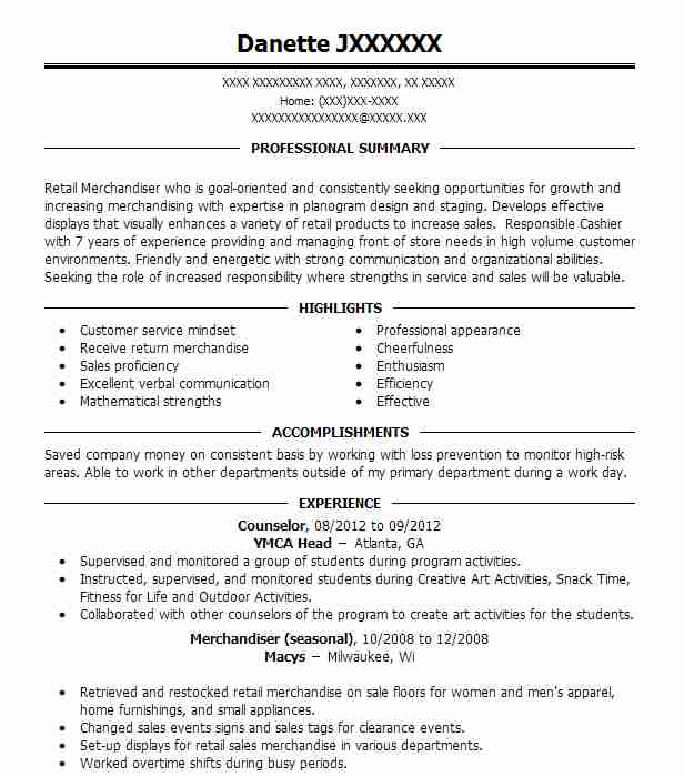 counselor resume sample