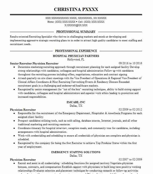 best training and development resume example