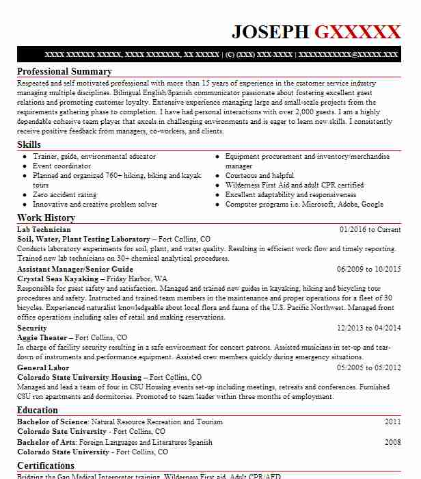 District conservationist resume