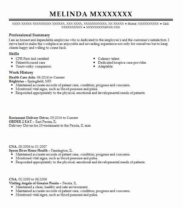 health care aide resume sample nursing resumes livecareer