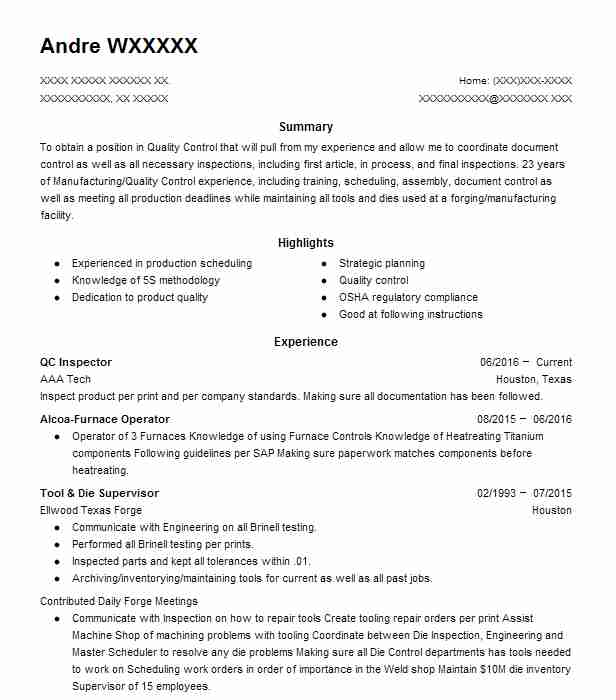 qc welding inspector resume example eog resources