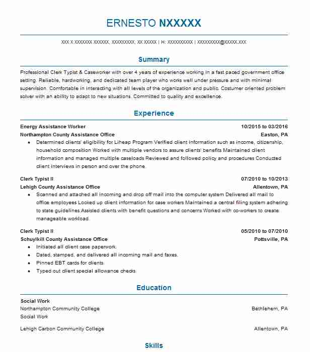 Find Resume Examples In Allentown Pa Livecareer